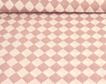 Printed Poplin / diamond old ROSE / cut 25cm