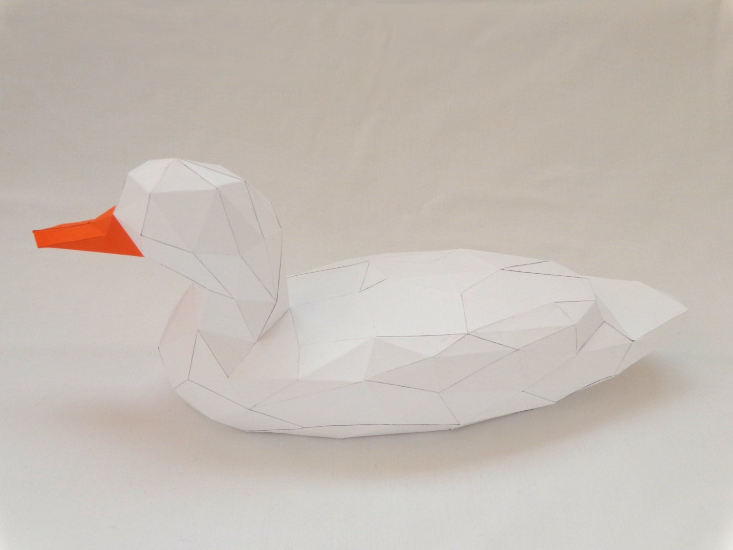 Duck Papercraft PDF Pack - 3D Paper Sculpture Template with ...