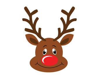 Rudolph Svg Dxf Png Esp Jpg files Instant Download Reindeer Vector Clipart Holiday Baby First Christmas