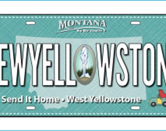 Row by Row On the Go License Plate 2017 Sew Yellowstone, Send it Home, West Yellowstone, Montana