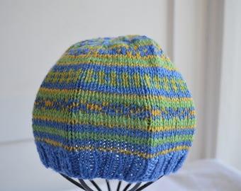 Fair Isle baby cap