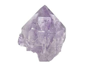 Amethyst Crystal, Skeletal Purple Amethyst Quartz Crystal, new find from Charcas, Mexico, Double terminated, Thumbnail mineral Specimen