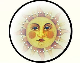 """Fantasy Moon with Rouge Picture Pendant Necklace 1"""" with Chain"""