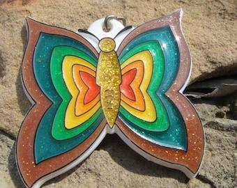 Vintage butterfly Keychain Key Ring Keys Key holder