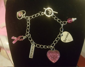 Women's Breast Cancer Awarness Bracelets/Necklace