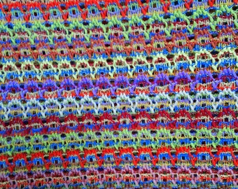 Primary Colors Open Knit Fabric BTY