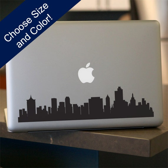 Tulsa skyline laptop sticker vinyl decal for car window