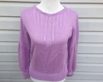 Lavender Knit Sweater