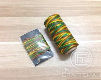 20 Meter of Rainbow Color Flat Waxed Thread