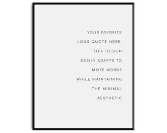 Custom Quote Print - PHYSICAL art print |  handmade, typography, quotes, wall art, black and white, inspirational