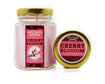Cherry Blossom Scented Soy Candle | Handmade Scented Candle -- 4oz