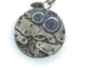 Time Turned on it's Side Steampunk Pendant Necklace