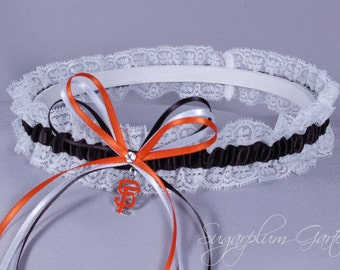 San Francisco Giants Lace Wedding Garter