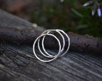 Sterling Silver Stack Rings, Stack Rings, Sterling Stack Ring