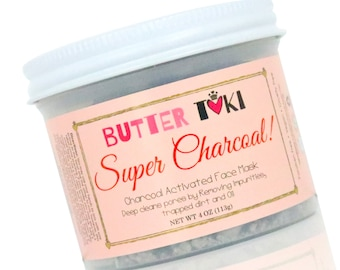 Super Charcoal Face Mask 3oz - Activated Charcoal - Face Mask - Vegan