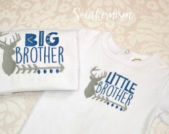 Big Brother shirt, Baby Brother Shirt, Deer Shirt, Hunting Shirt, Baby Announcement, Sibling Set, Baby Brother Shirt, Big Brother Shirt