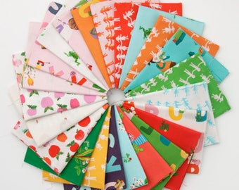 Kinder - Half Yard Bundle by Heather Ross - Full Collection 23 prints