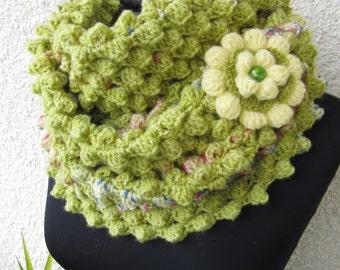 Crochet Scarf PATTERN, Spring is Coming, Infinity Scarf Pattern, Easy DIY Scarf, Instant Download, PDF Crochet Pattern #74, Lyubava Crochet