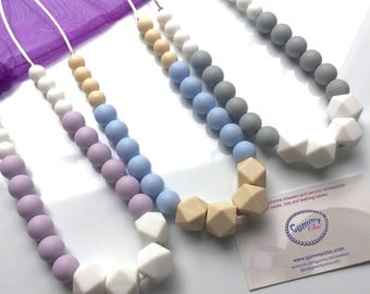 Teething Necklace   Nursing Necklace   Babywearing Jewelry   Fiddle Necklace   Silicone Teething Jewelry   Gummy Chic   Chewing Beads
