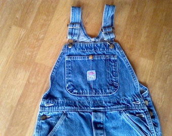 Denim Overalls ,Pointer,Bibs,   Children's size  12  work cloths, farm cloths, 100 percent Cotton,  waist 26 lenth 27.5