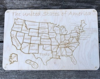 Map puzzle Etsy