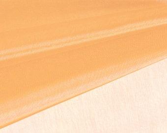 Apricot Organza Fabric by the Yard, Wedding Decoration Organza Fabric, Sheer Fabric - Style 1901