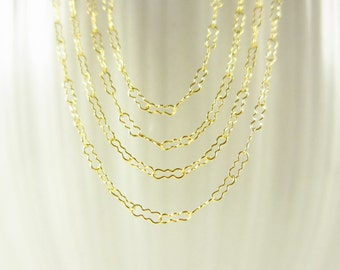 """KRINKLE - 16"""", 18"""", or 20"""" Chain - Fancy Chain Necklace - 14k Gold Filled Chain - Peanut Chain - Ready Made Unique Chain - Fancy Style Chain"""