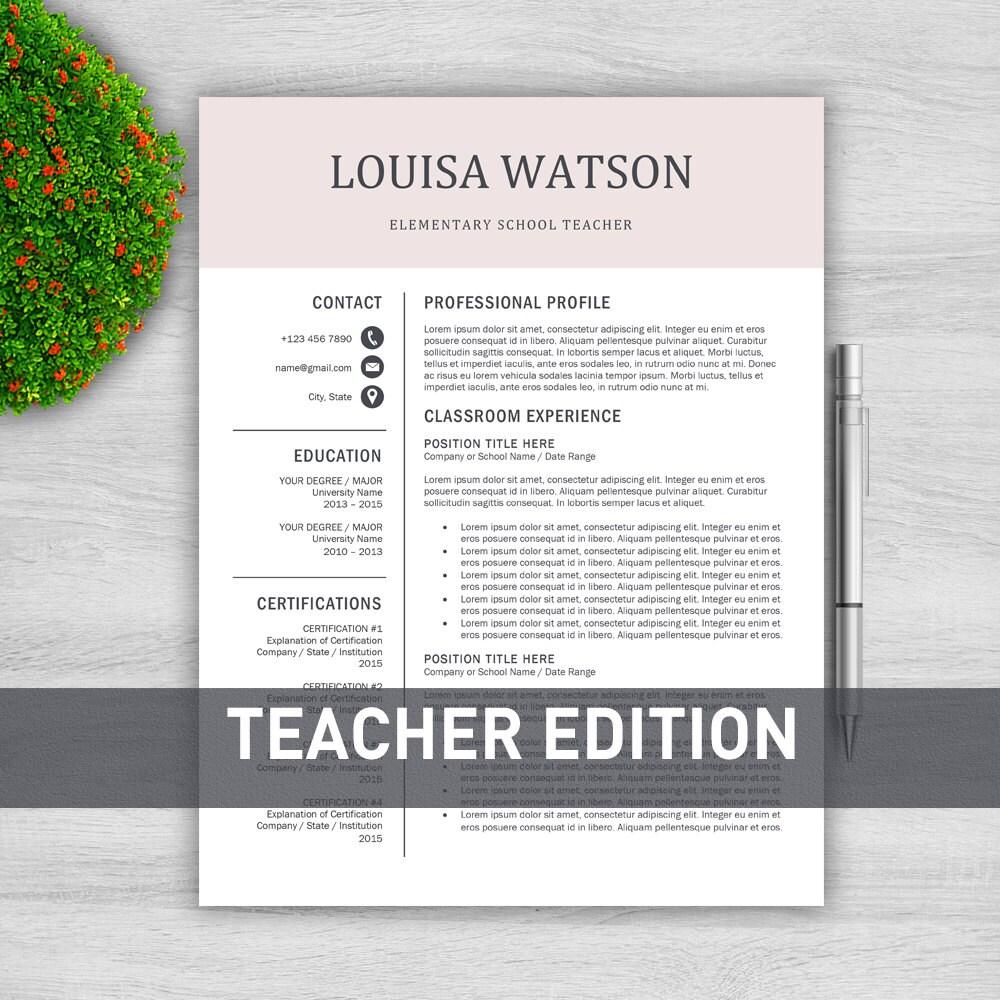 Lehrer Lebenslauf Vorlage für Word / Lehrer CV Vorlage Lehre