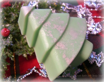 Christmas Tree Soap, Pine Tree Soap, Novelty Soap, You pick color & scent