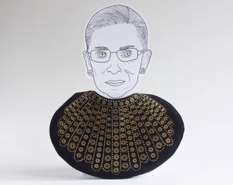 Dissent Collar Baby Bib / Ruth Bader Ginsburg / Notorious RBG / Supreme Court / Judge / Democrat / Lawyer / Collar / Political / Baby Gift