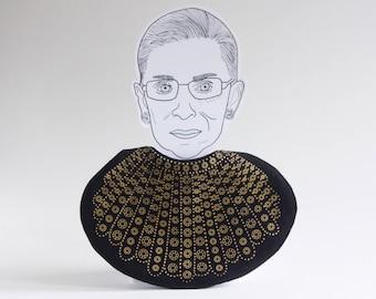 Dissent Collar Baby Bib / Ruth Bader Ginsburg / Notorious RBG / Supreme Court / Judge / Democrat / Lawyer / Collar / Political / Baby Gift