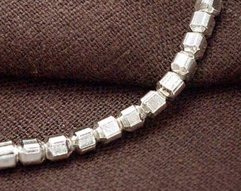 15 of Karen Hill Tribe Silver Round Cube  Beads 4mm.  :ka4315