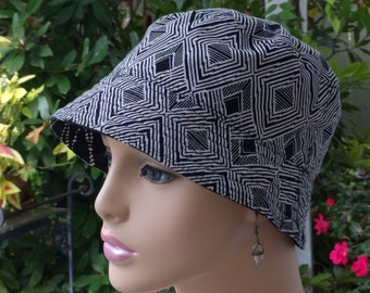 Womens Chemo Hat Cancer Hat Hair Loss Hat Cotton Reversible Made in the USA  MEDIUM
