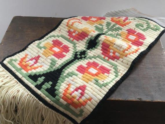 Vintage Swedish Embroidery Embroidered Swedish Wall Hanging