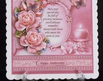 Ref. No.2.    8 x 8 Happy Anniversary Card