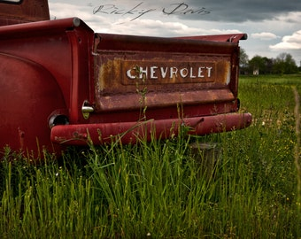 Like a Rock - Antique Chevy Truck in the Foothills of the Smokies - Landscape Photography Print - Ricky Davis
