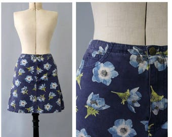 Kenzo vintage floral mini Skirt fr36 small / vintage floral mini skirt