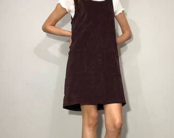 1990s jumper dress with pockets