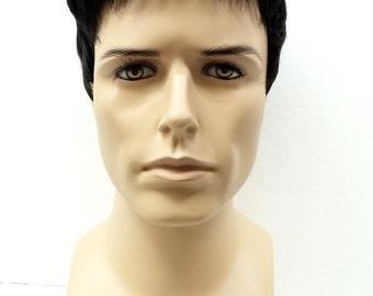 Off Black Short Style Men's Wig. Synthetic Fashion Wig. [55-294-Simon-1B]