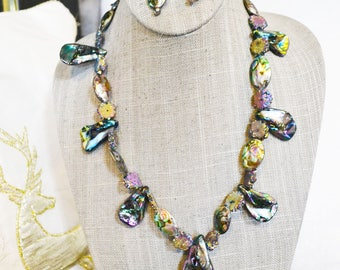Abalone and Geo Necklace