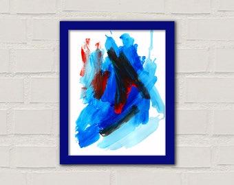 Fine Art Print 'Abstract 16', Acrylic Drip Painting, Modern Art, Abstract Art Painting, Home Decor, Wall Decor, Wall Art, Blue Art