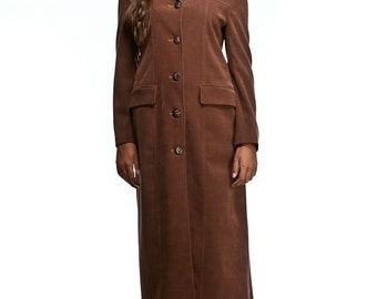 Elegant long womens coat /  Light brown coat / Black long coat / Womens black coat