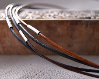 Leather Necklace, Choose Length, Add a Necklace, Unisex Leather Cord Necklace, Leather Jewellery, Jewellery & Gifts