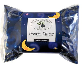 Dream Pillow Restful Blend With Your Choice of Fabric
