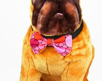 Bow Tie, Dog Bow Tie, Pet Neckwear, Dog Accessories, AnnabelsAccessories, Pet Accessories, Pet Neck Tie, Dog Clothing, Pink Mod Circles
