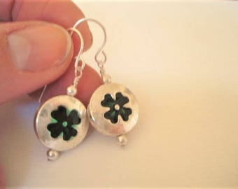 Four Leaf Clover Earrings Clover Dangle Earrings Silver St. Patrick's Day Jewelry