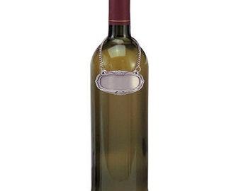 Decanter Labels, Wine bottle  Label Tag, Pewter, Free Engraving