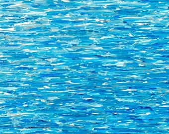 Vertical Ocean Painting, blue abstract seascape, abstract ocean, modern ocean painting, vertical painting, blue seascape painting, 16x40x1.5