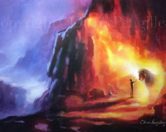 Poster print - 'Anointing fire'