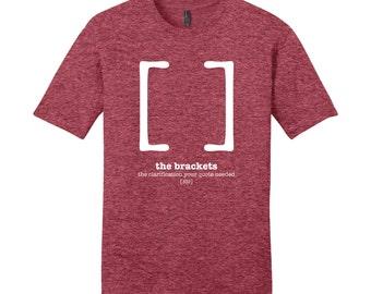 Brackets Punctuation Shirt English Teacher Men's Grammar Shirt Gifts for Teachers Cool Funny T Shirt Funny T Shirt Man Typography Tshirt